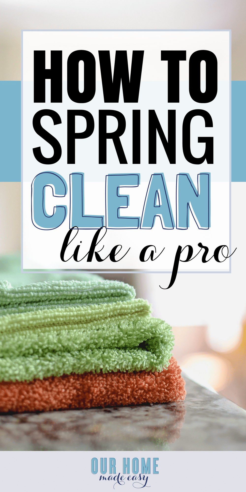 Make Spring cleaning easy by tackling a few main items! Grab your free Spring cleaning checklist to make sure you don't miss a thing this year! #cleaning #organization #printable #clean #declutter