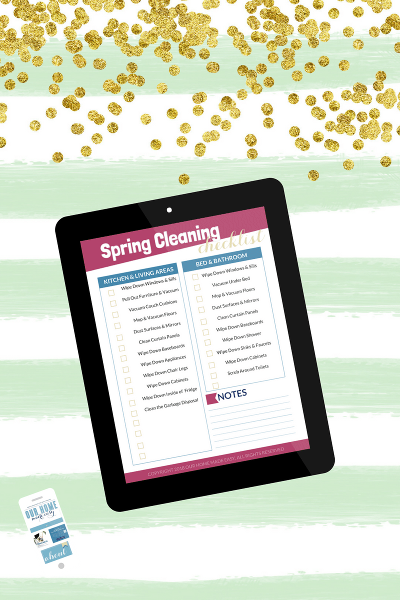 Check out this spring cleaning checklist for the best tips and tricks for making spring cleaning easy!