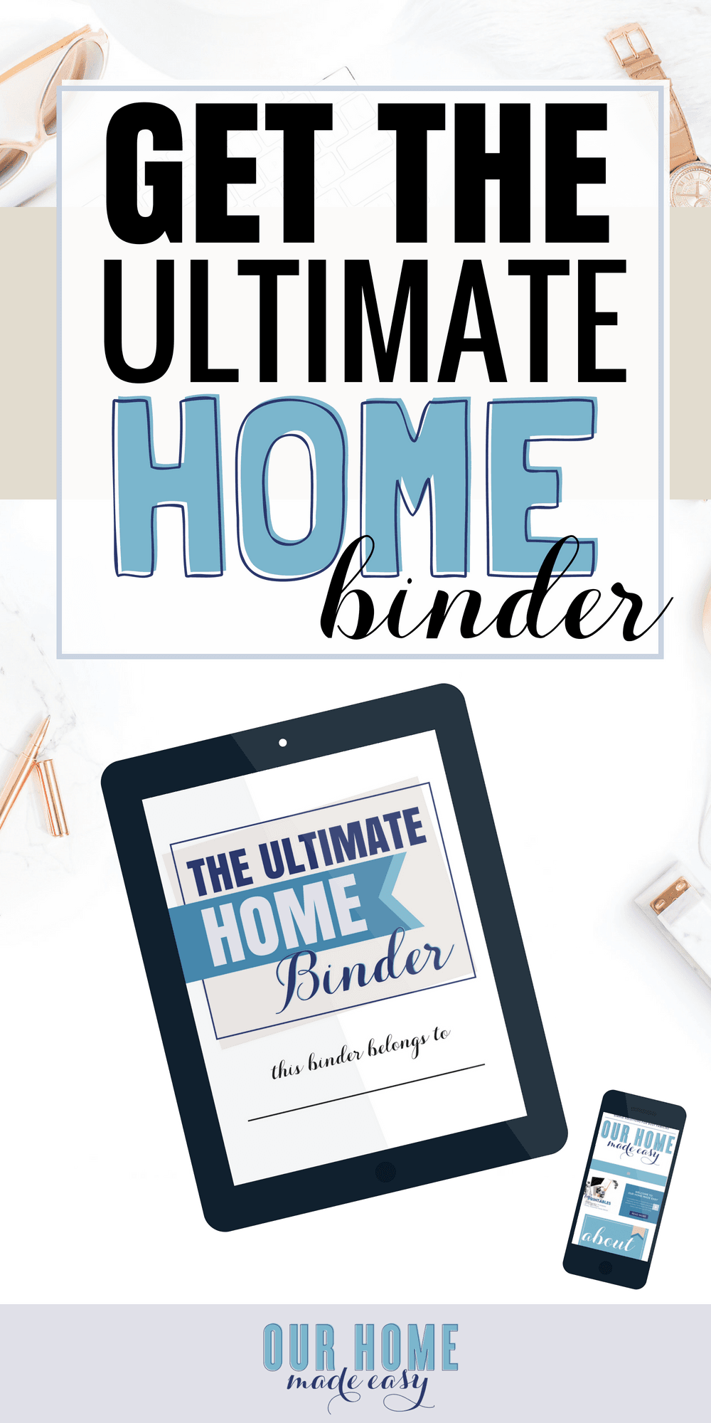 Are ready to organize your life at home? The Ultimate Home Binder will empower you to take control of your home andcreate your perfect 'one-stop' shop!
