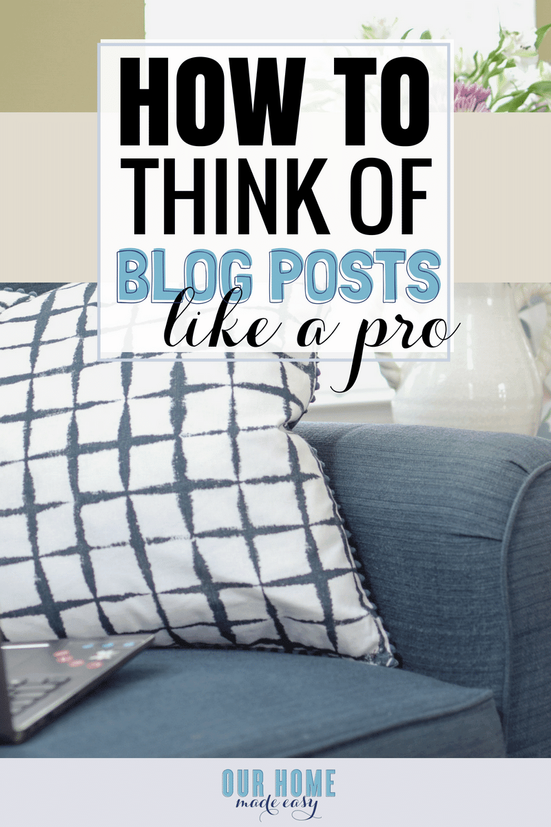 how to think of blog post ideas