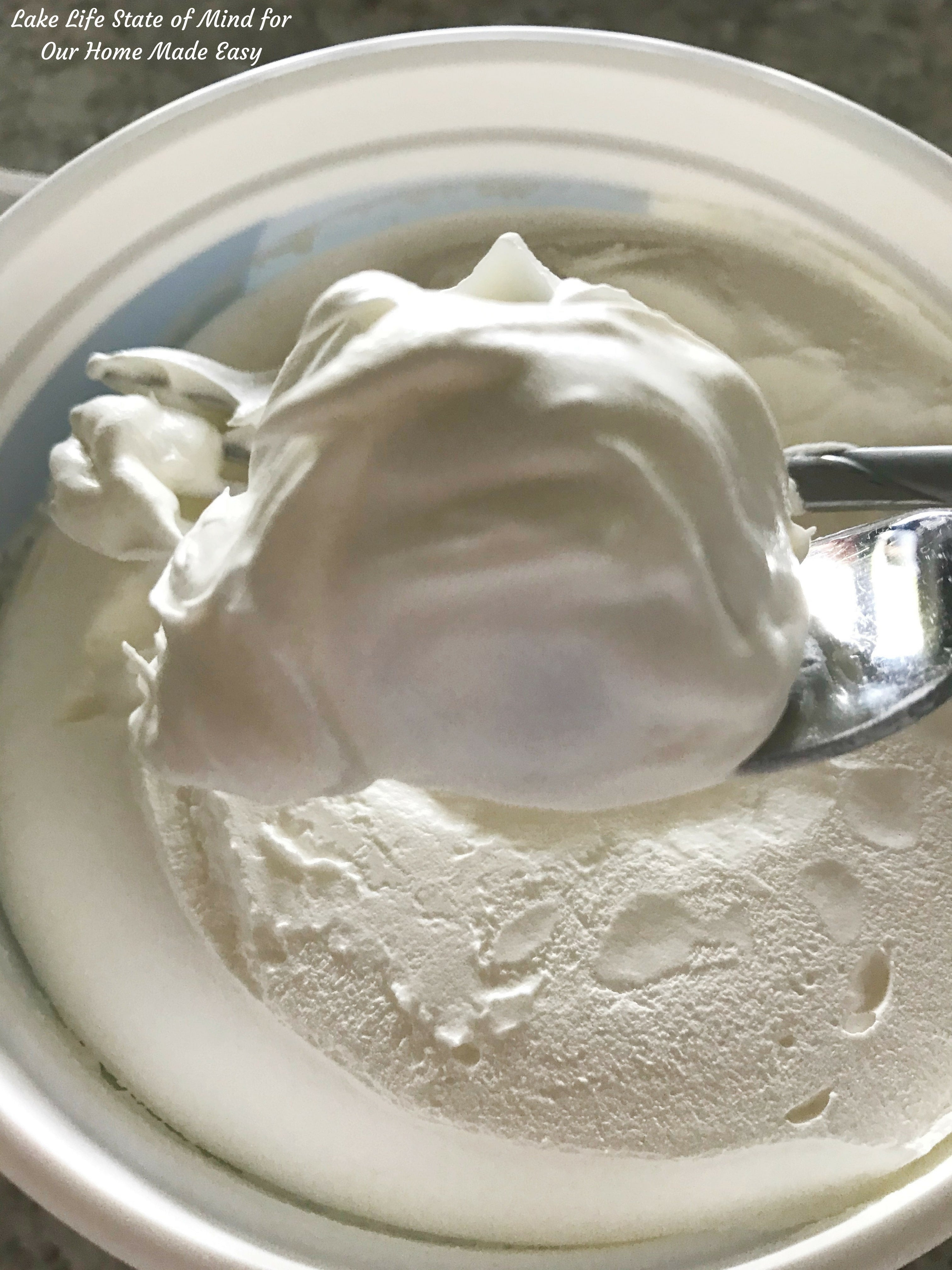 Sweet and fluffy whipped cream is light and refreshing with the chocolate syrup