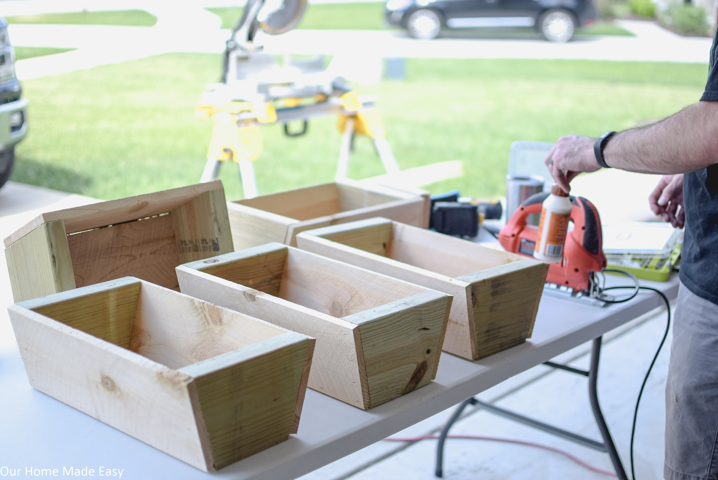 Wood glue is a lifesaver in this DIY cedar ladder planter project, so don't skip out on it!