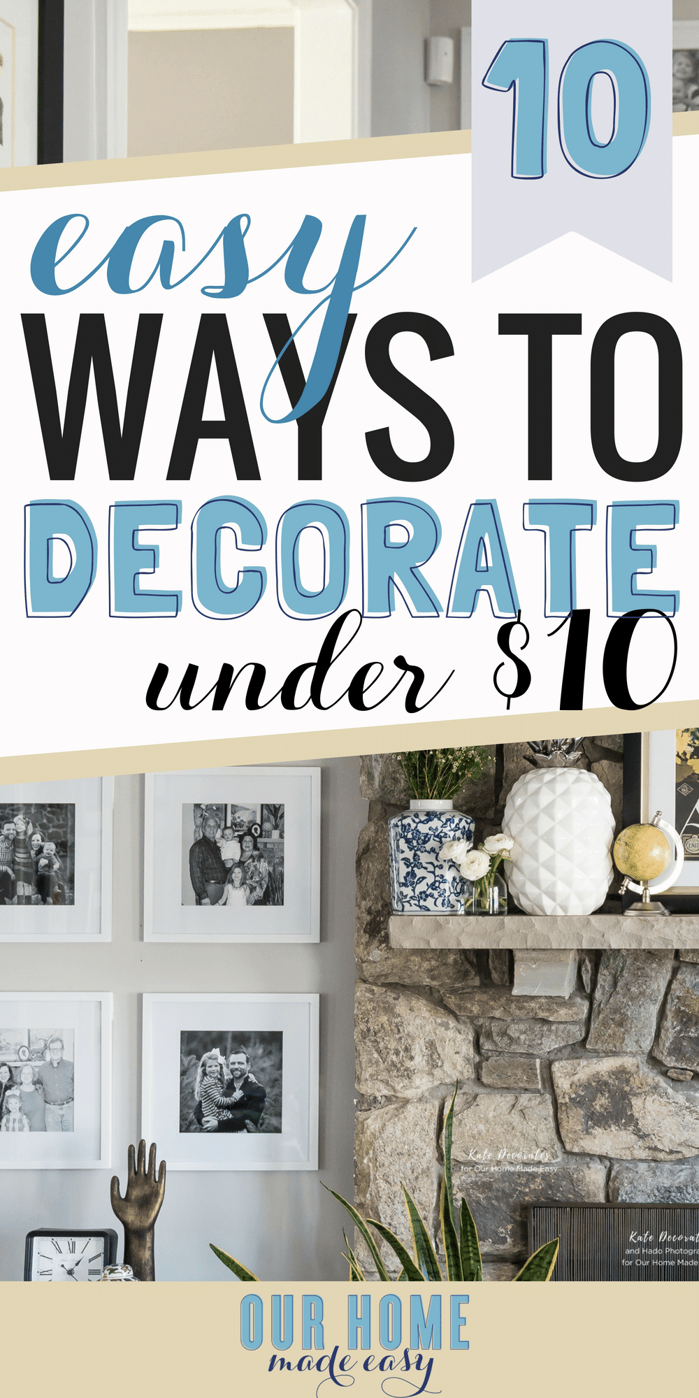 Check out these easy ways to decorate your home! All are under $10! Refresh your home with these tips & tricks! #home #decor #livingroom #house