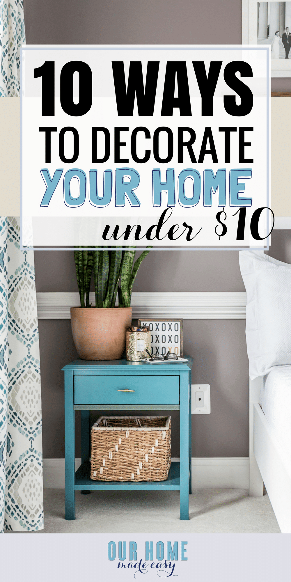 Check out these easy ways to decorate your home! All are under $10! Refresh your home with these tips & tricks! #home #decor #decorating