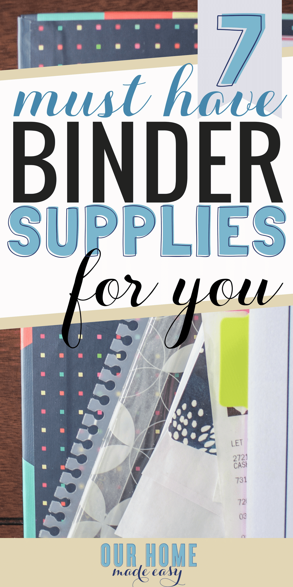 Add some fun with these binder supplies. These are perfect for making The Ultimate Home Binder perfect for your family! #organization #declutter #goals #home #organized