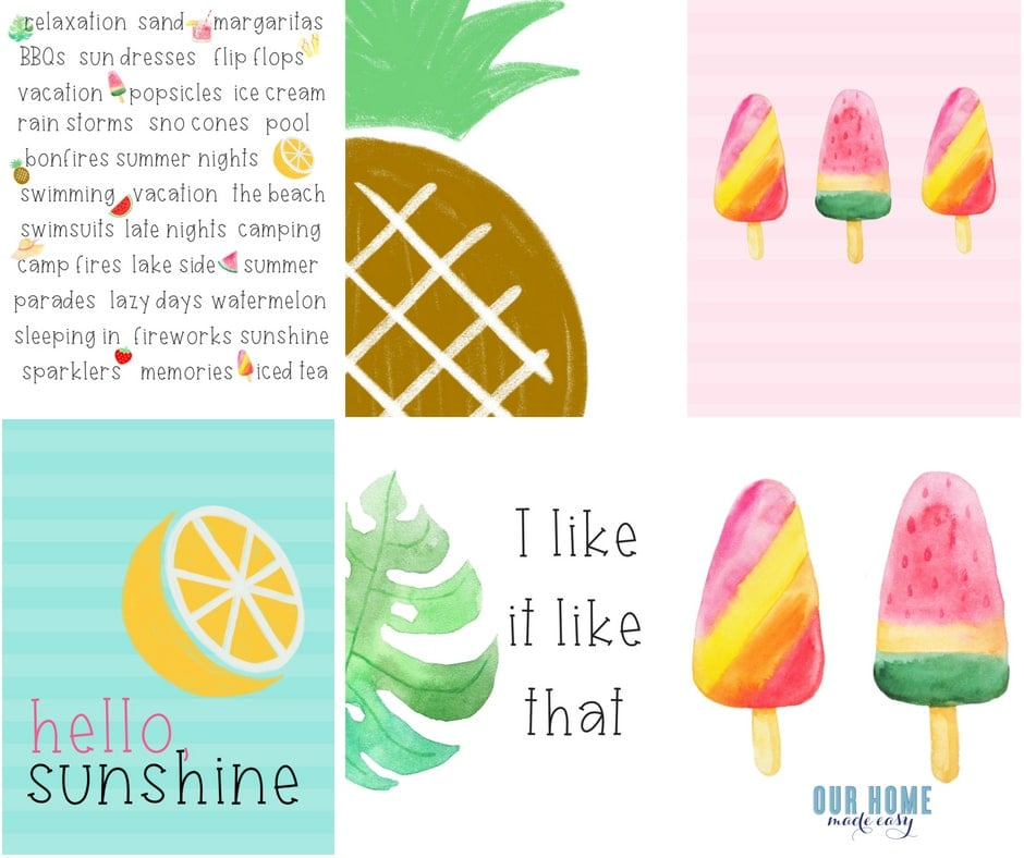 These FREE summer printable will keep you in the summer mood even when summer has passed