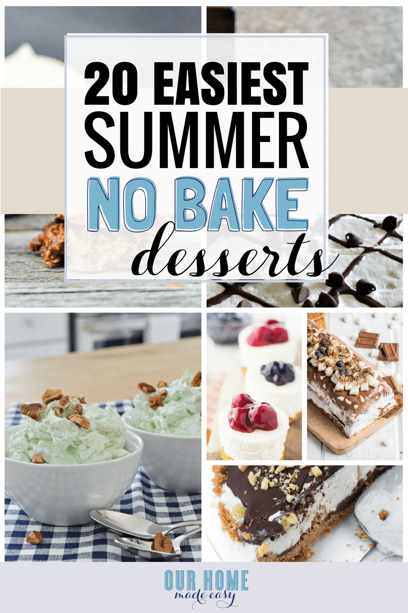 Looking for easy and no bake dessert recipes? I've found 20 that you can make this afternoon with almost zero effort! You'll be the most popular dish at your next cookout when you bring one of these sweet treats!