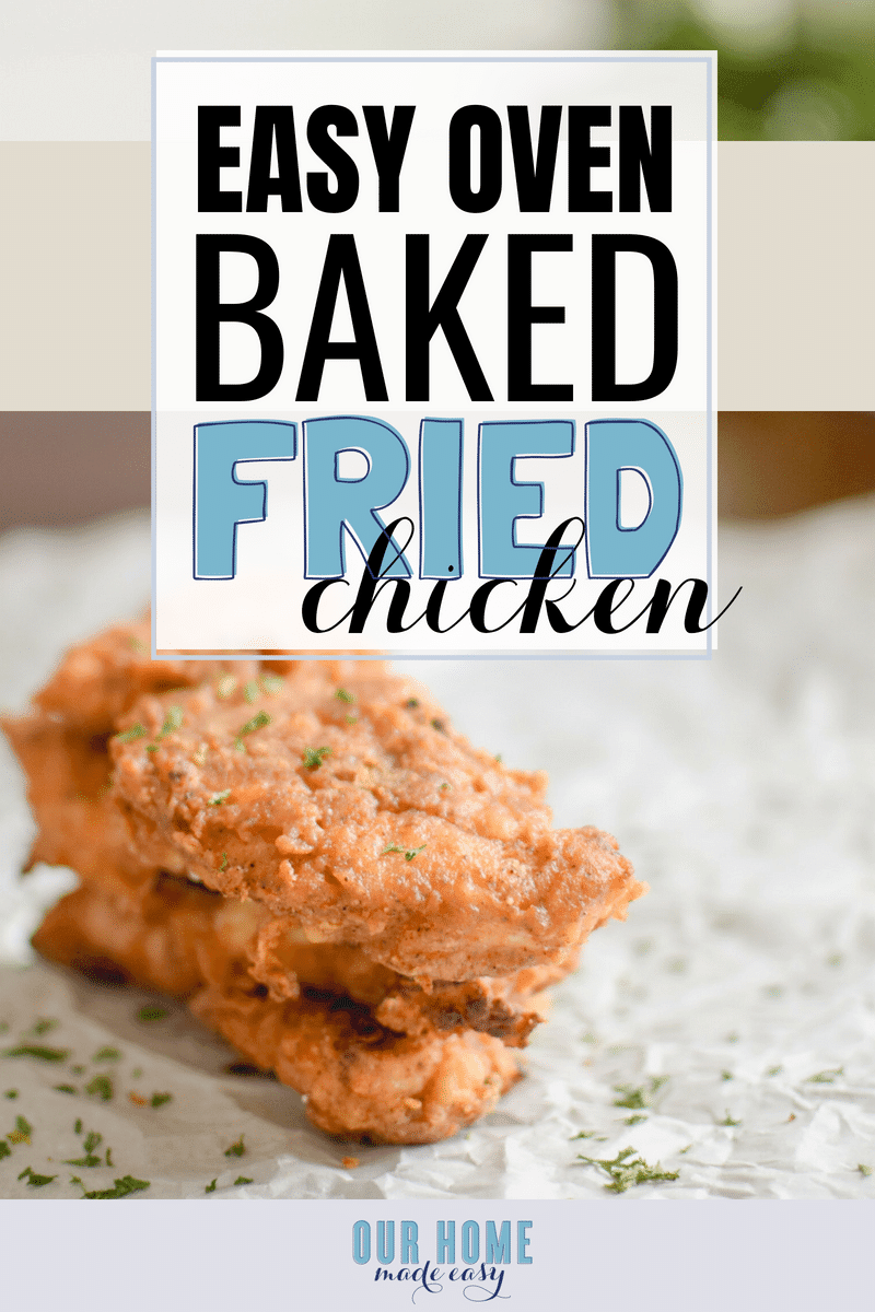 this easy oven baked fried chicken recipe is a healthier version of classic fried chicken
