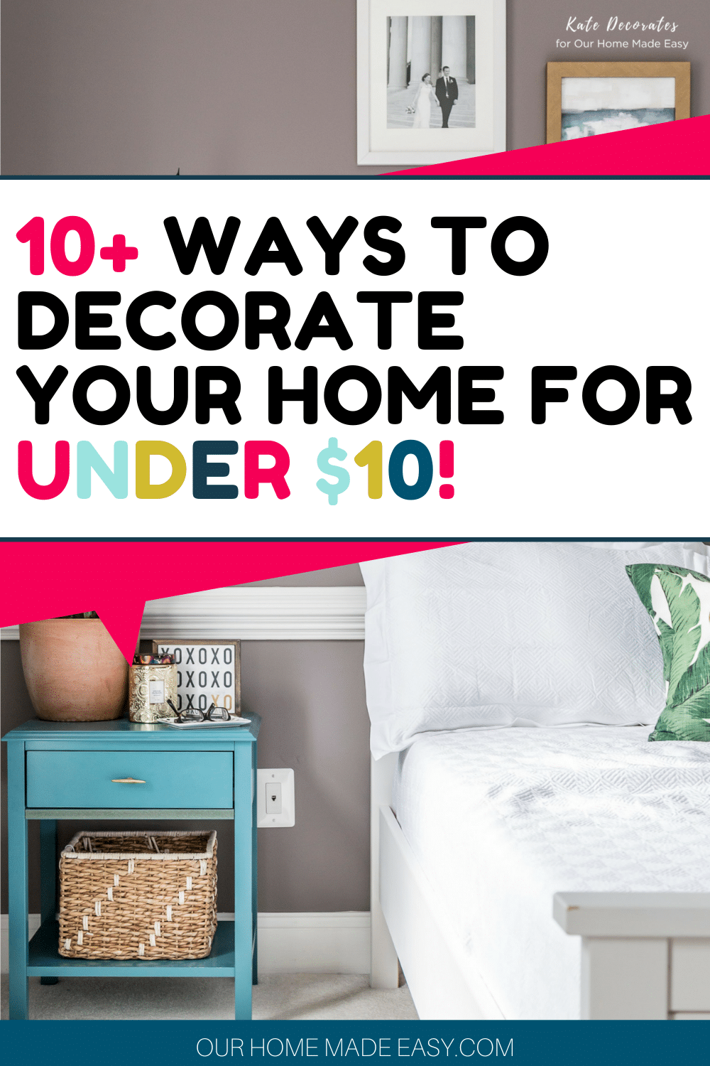 Looking for affordable home decor? Check out some of these ideas for home decor under $10. Decorating your home can be easy AND affordable!