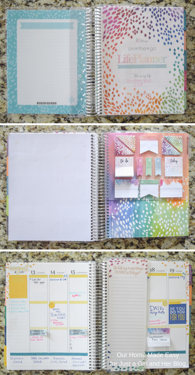 Erin Condren Life Planner with Ruler and Stickers