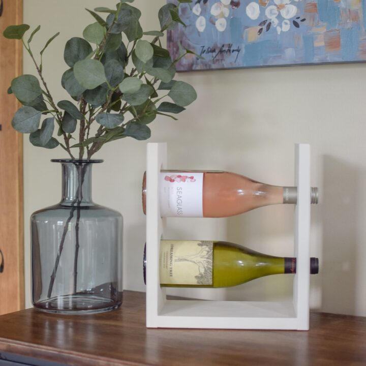 Easy DIY Wine Rack for a Tabletop