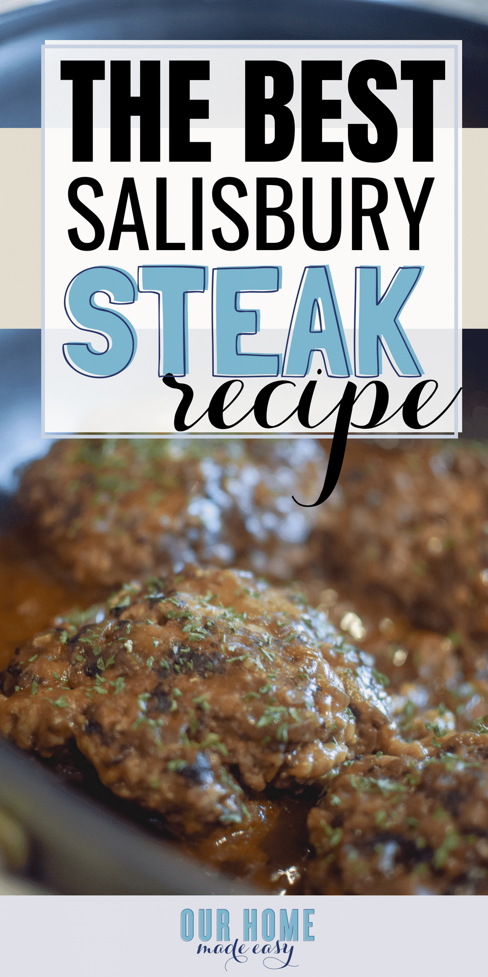 Make this easy Salisbury steak recipe for dinner! It's comfort food with almost no effort! #dinner #recipe #beef #dinnerrecipe
