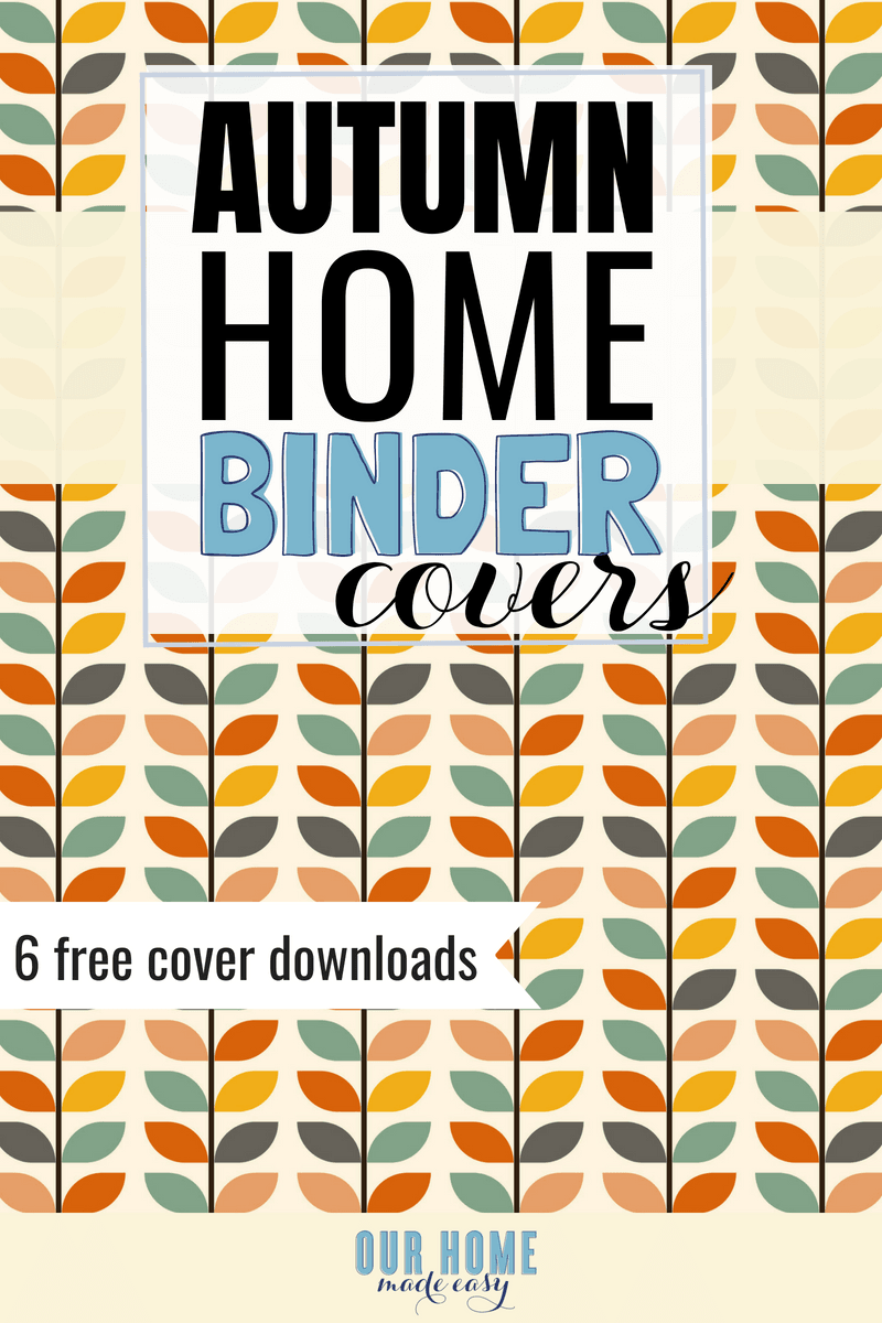 6 Free Autumn Home Binder Covers #organizer #homedecor