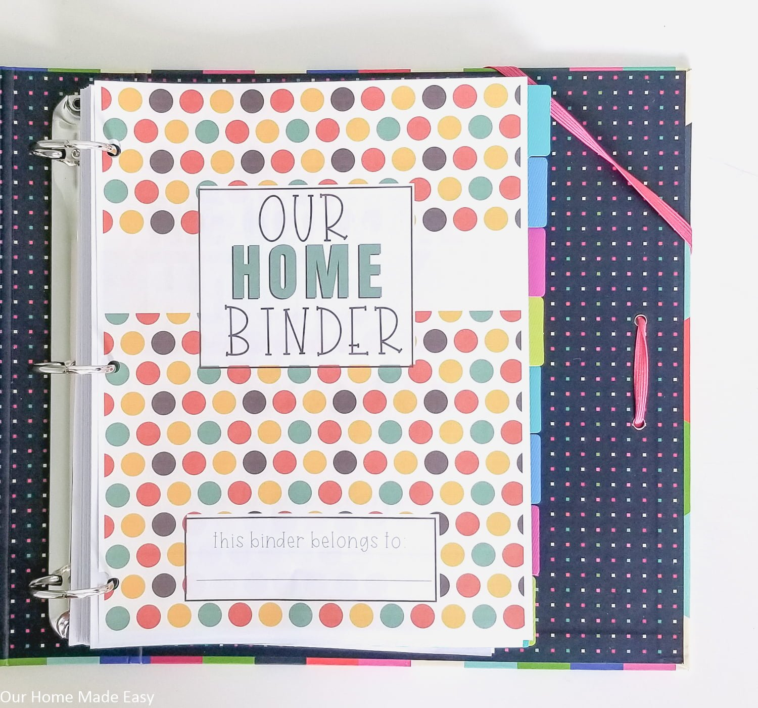 Your home binder is your one-stop home organization command center, make sure it's prepped for the season with these free autumn home binder covers