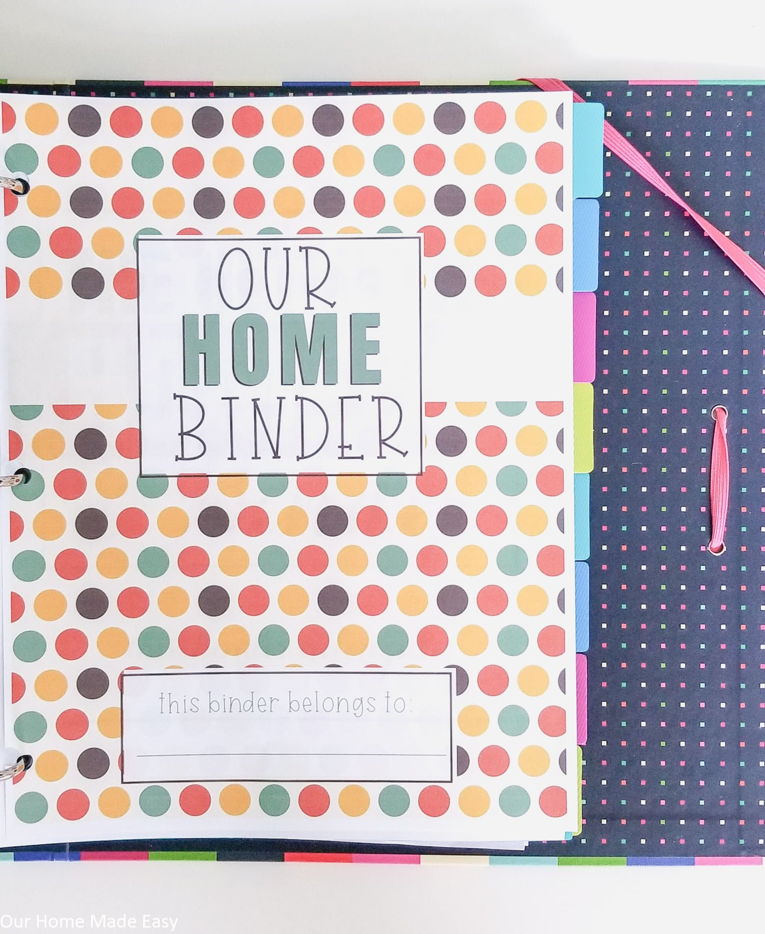 Fall is approaching, prep your home binder for the season with these free autumn home binder covers