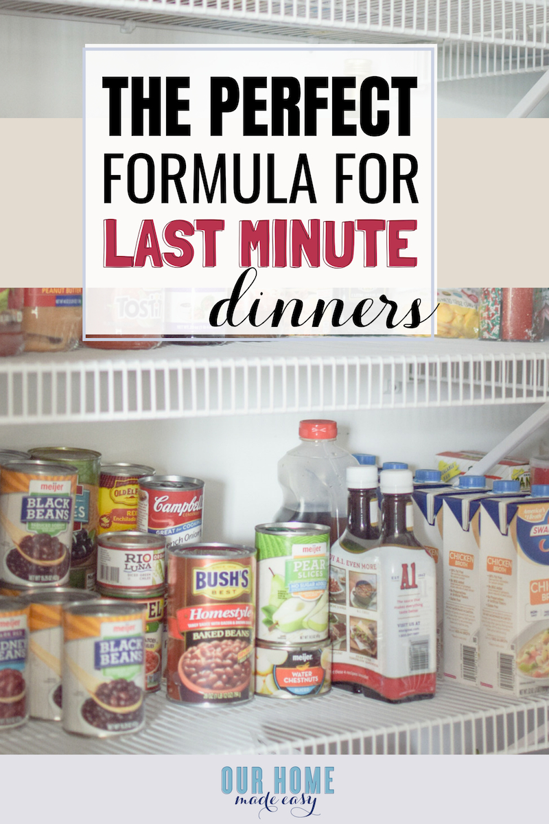 pantry staples last minute dinner ideas