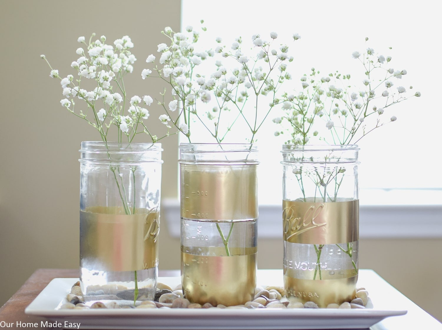 Super Easy Spray Painted Mason Jars
