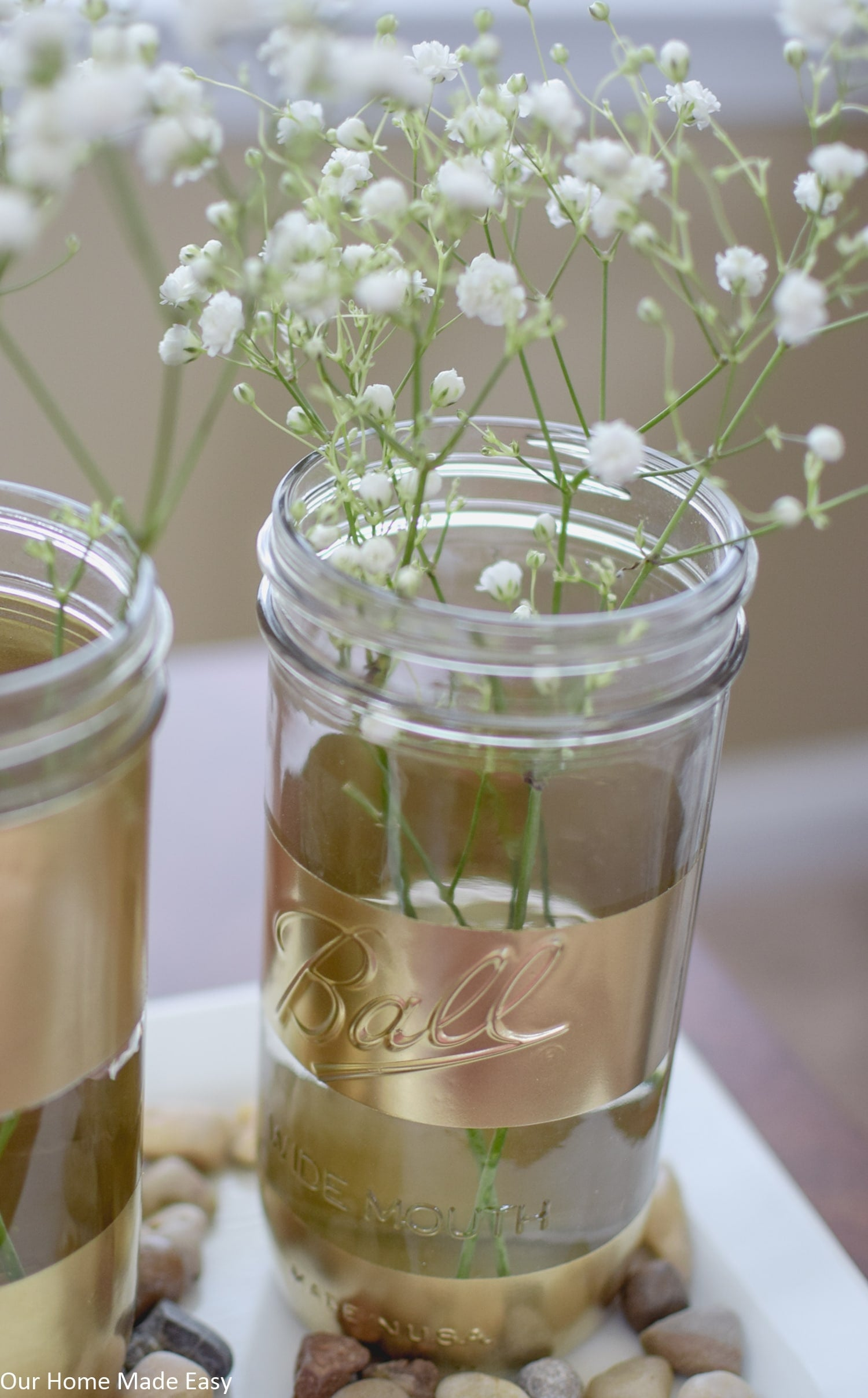 Super Easy Spray Painted Mason Jars – Our Home Made Easy