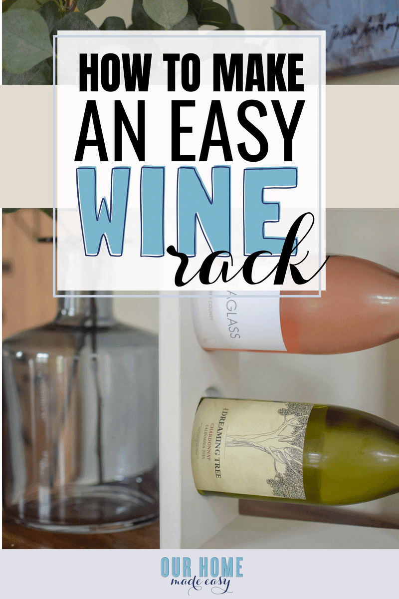DIY Wine Rack on Table