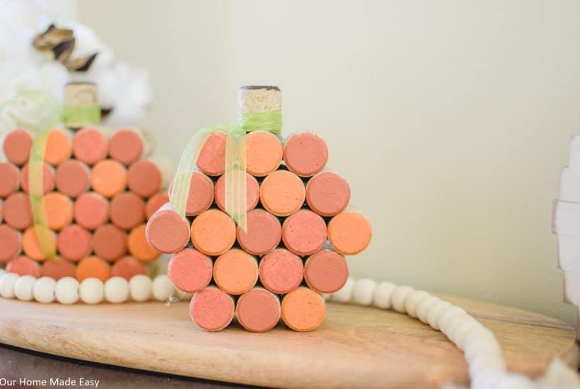 Simple Cork Pumpkins