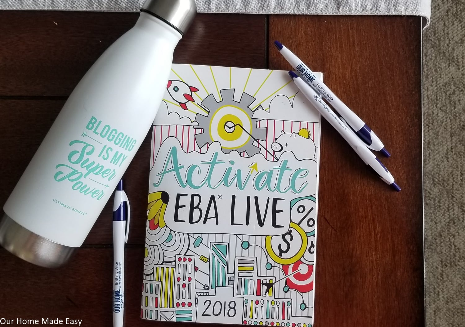 Free blogger gifts from Activate EBA Live blogging conference