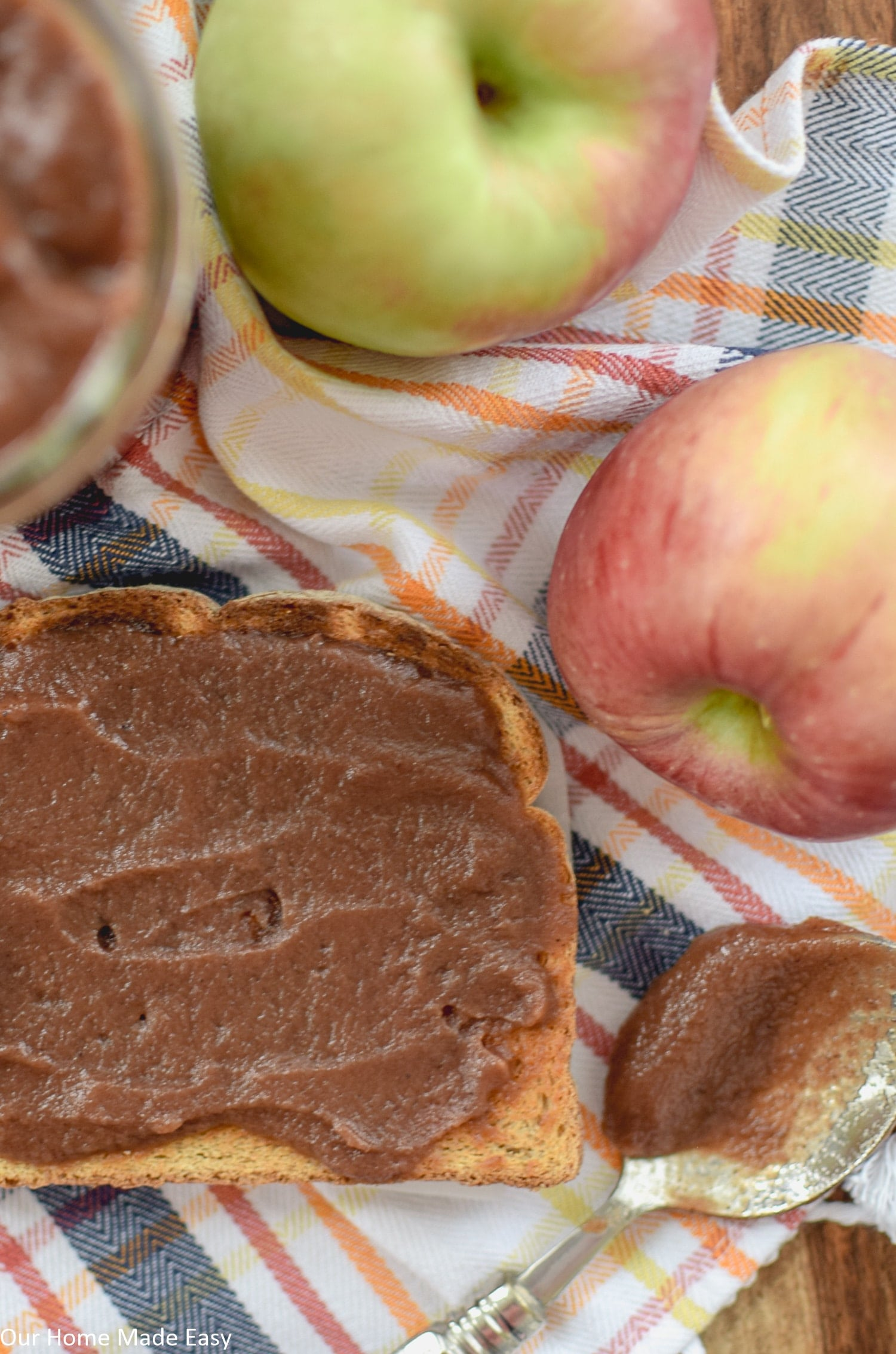 This homemade crockpot apple butter recipe only needs a few ingredients