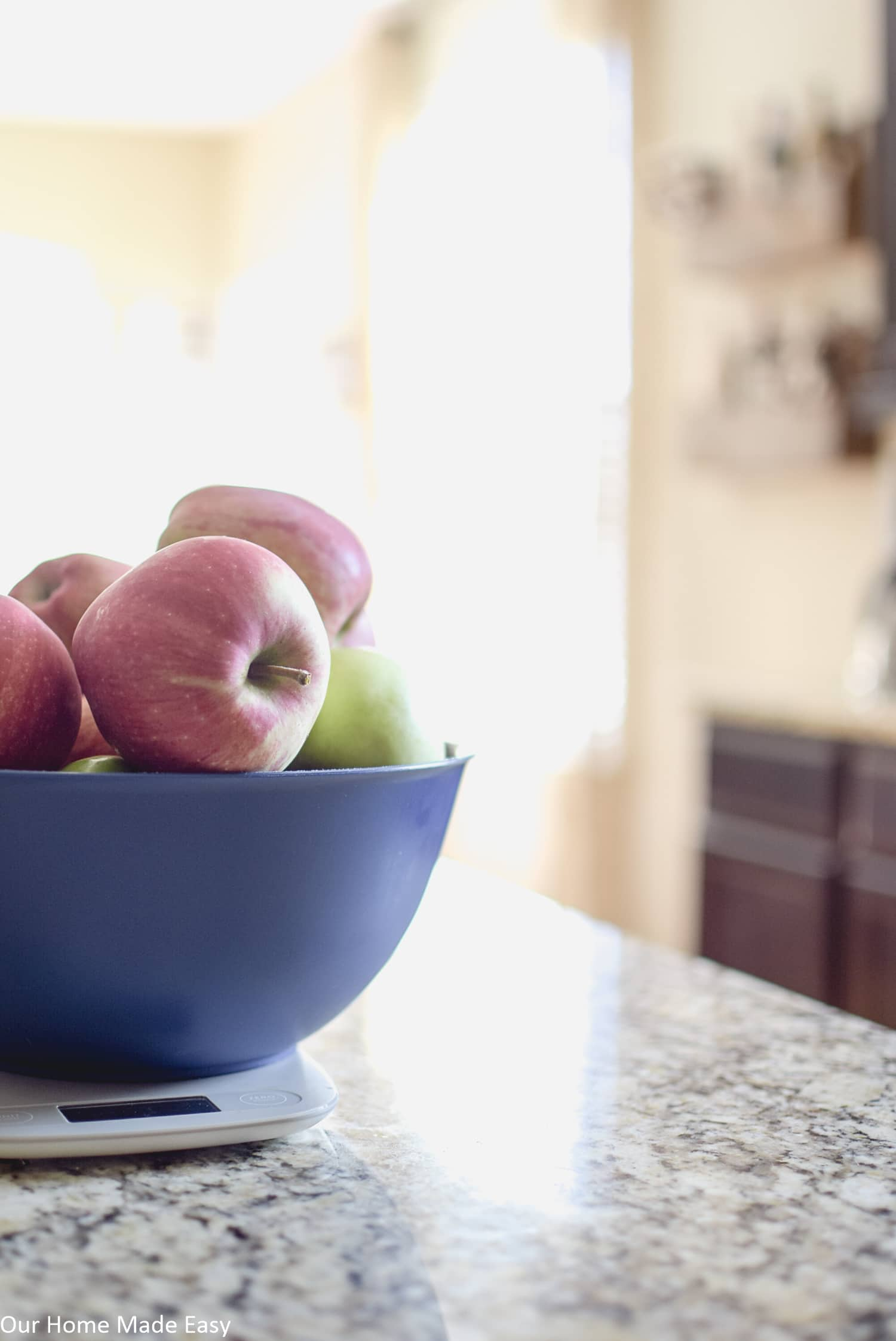 these delicious fresh-picked apples are ready to be made into fresh crockpot apple butter