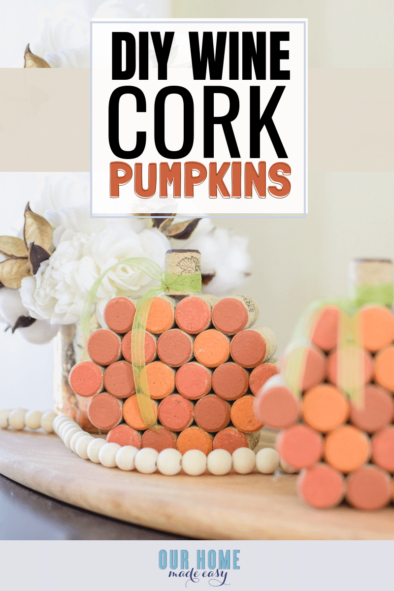 DIY Wine Cork Pumpkins #pumpkins #cork #crafts #falldecor #fall