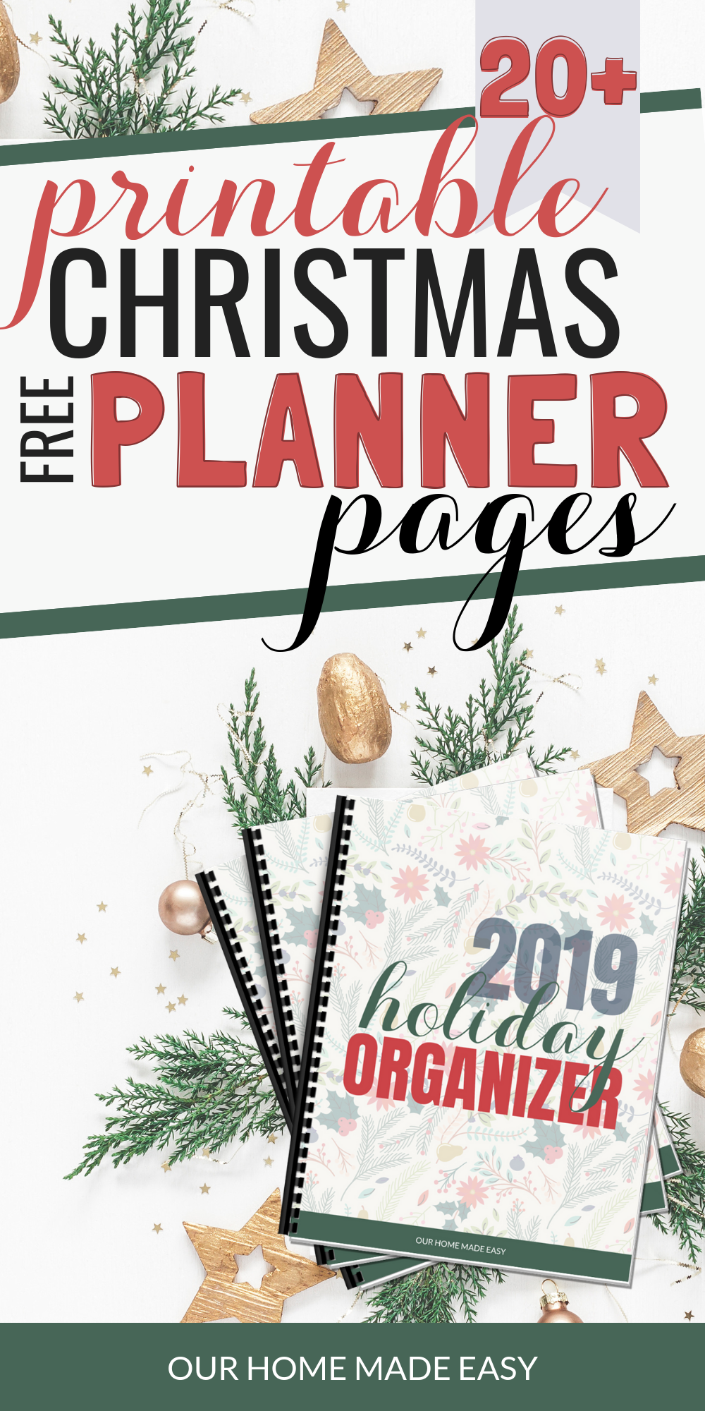 Download all the pages for your Printable Christmas planner right here!