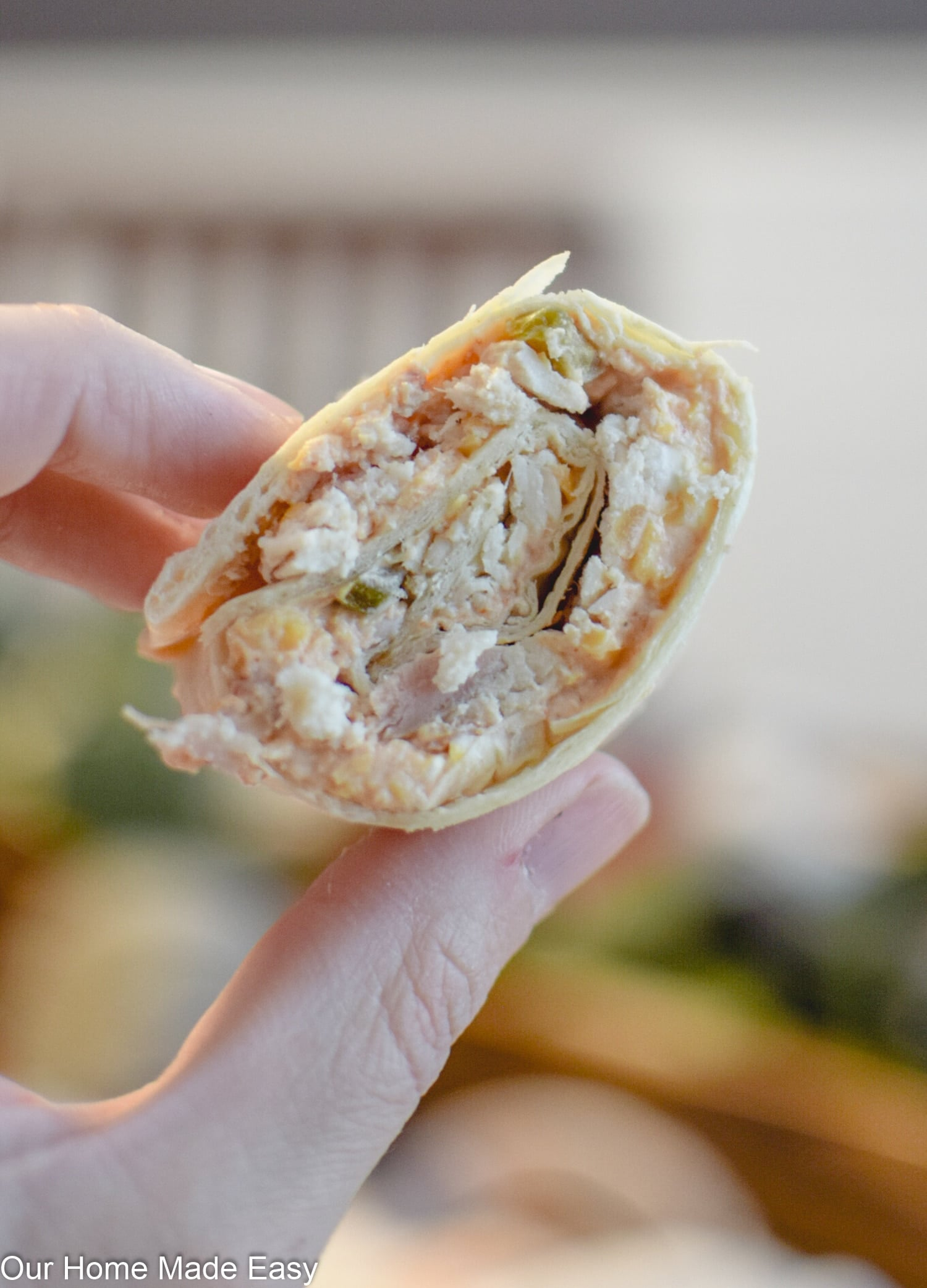 these easy chicken tortilla roll ups are the perfect snack or light lunch on a busy day