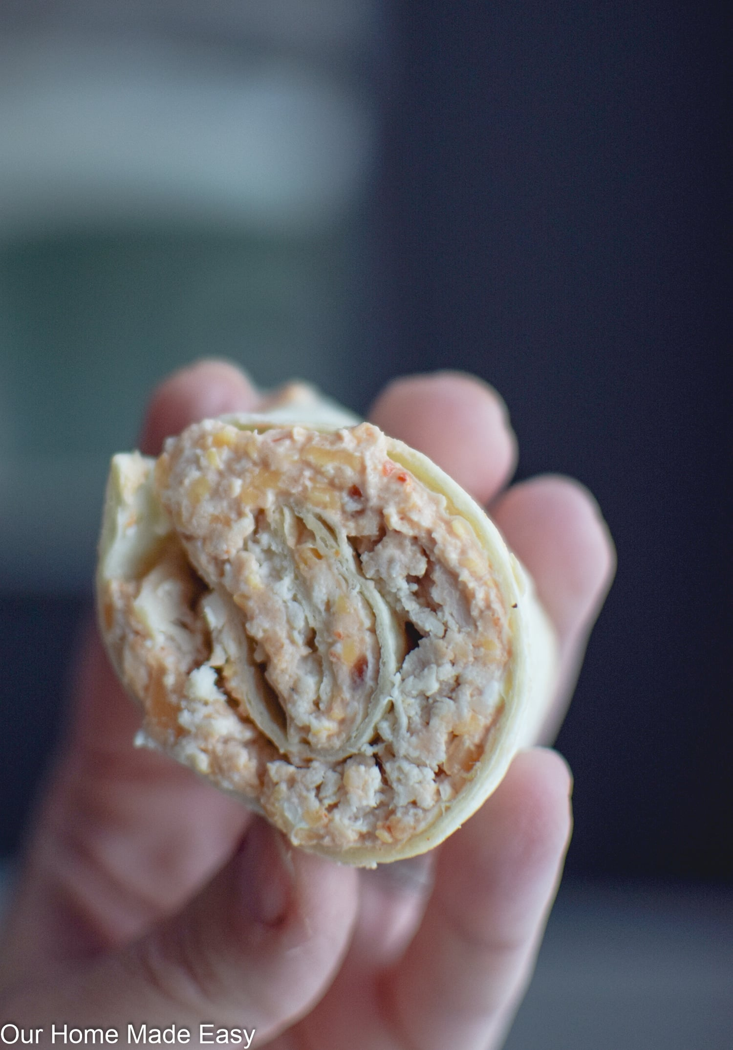 Chicken tortilla roll ups take just a few minutes to make and are perfect for an on-the-go snack or lunch