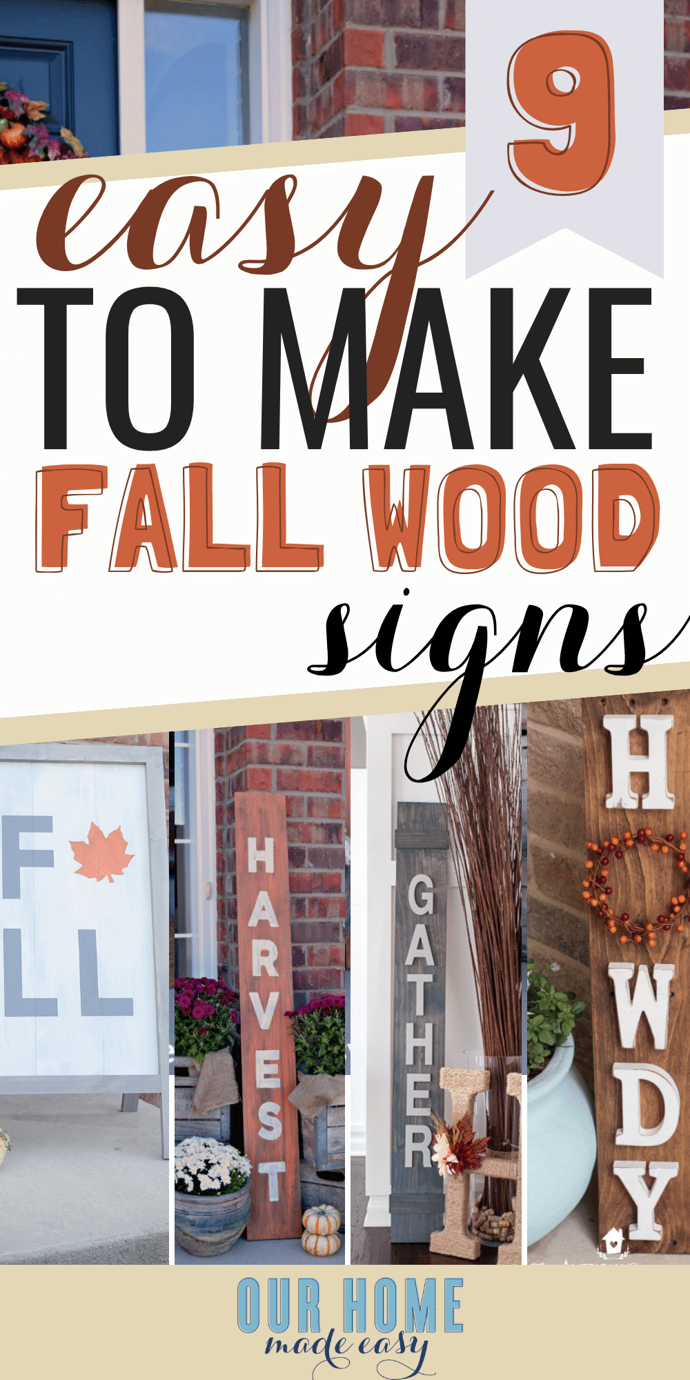 Make one of these easy DIY fall wood signs this weekend! Not only are they adorable, but they are the best way to add fall decor on a budget! Click to see them! #DIY #DIYHomeDecor #farmhousestyle