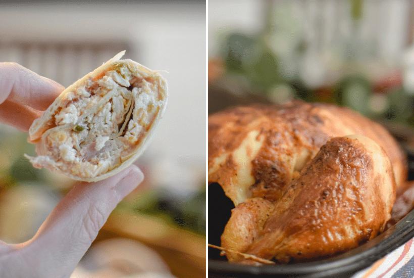 Chicken Tortilla Pinwheel Roll Ups