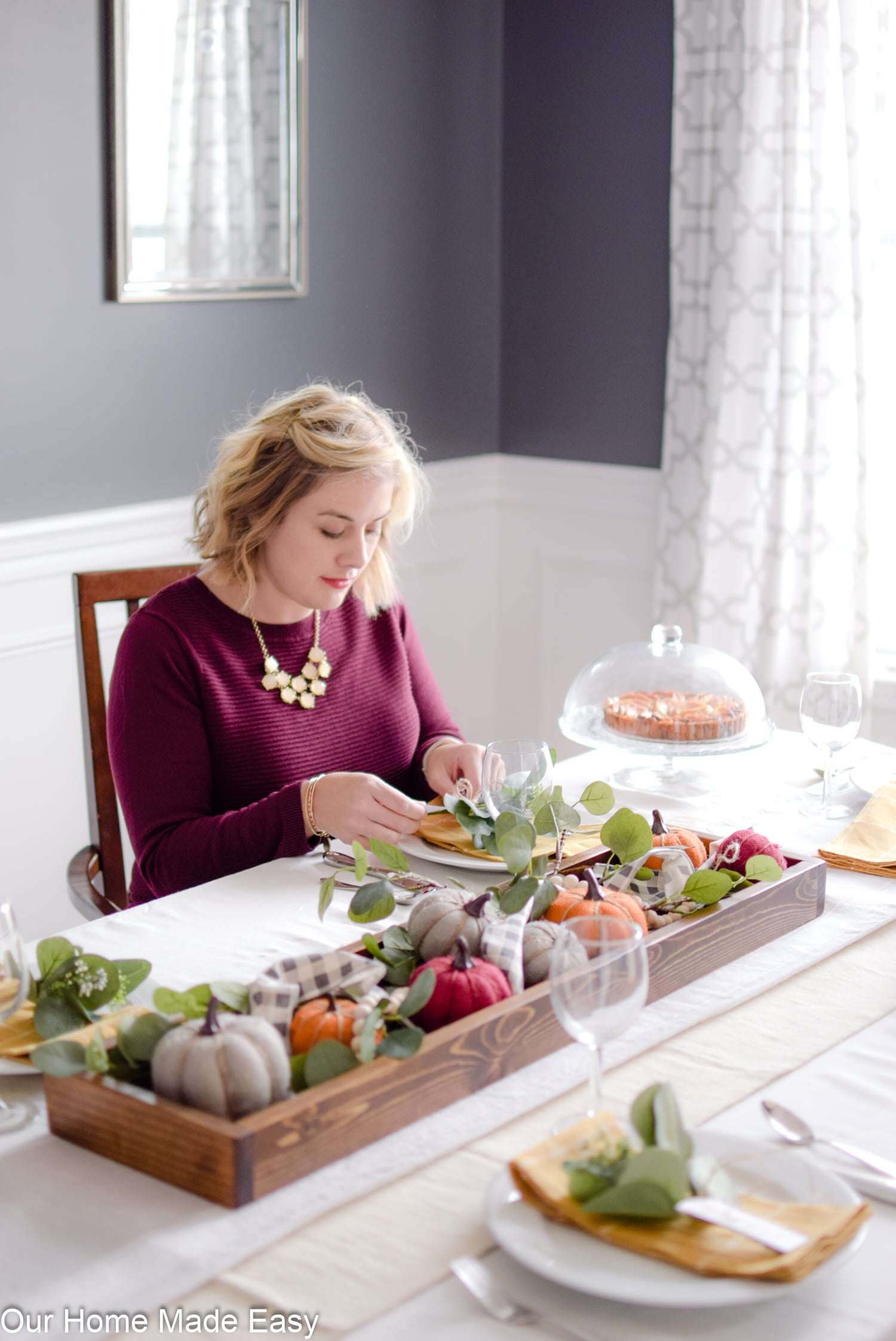A fresh tablescape is the perfect touch of fall home decor