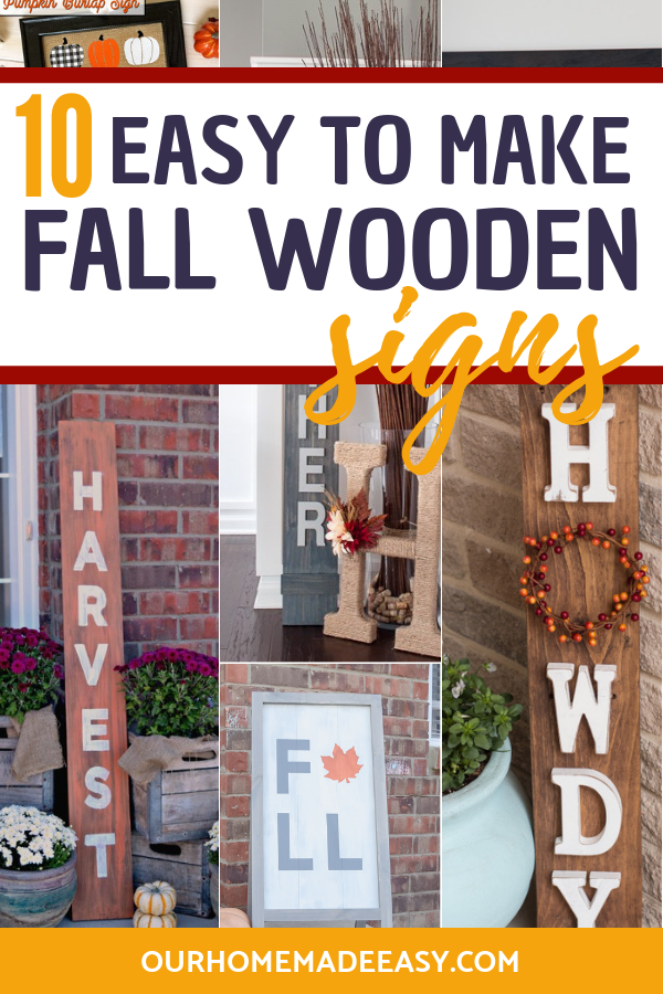 fall signs diy wooden