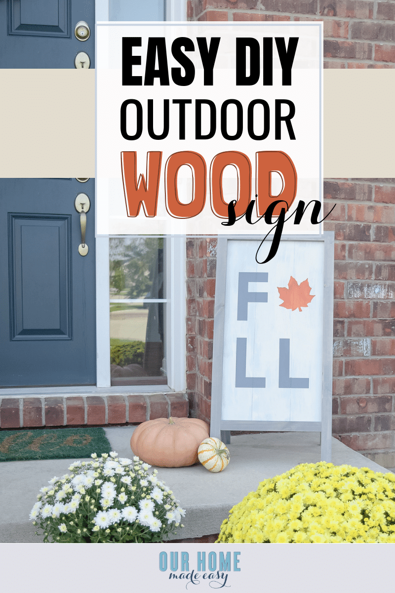 DIY Fall sign! Make it quickly! #fall #signs #homedecor