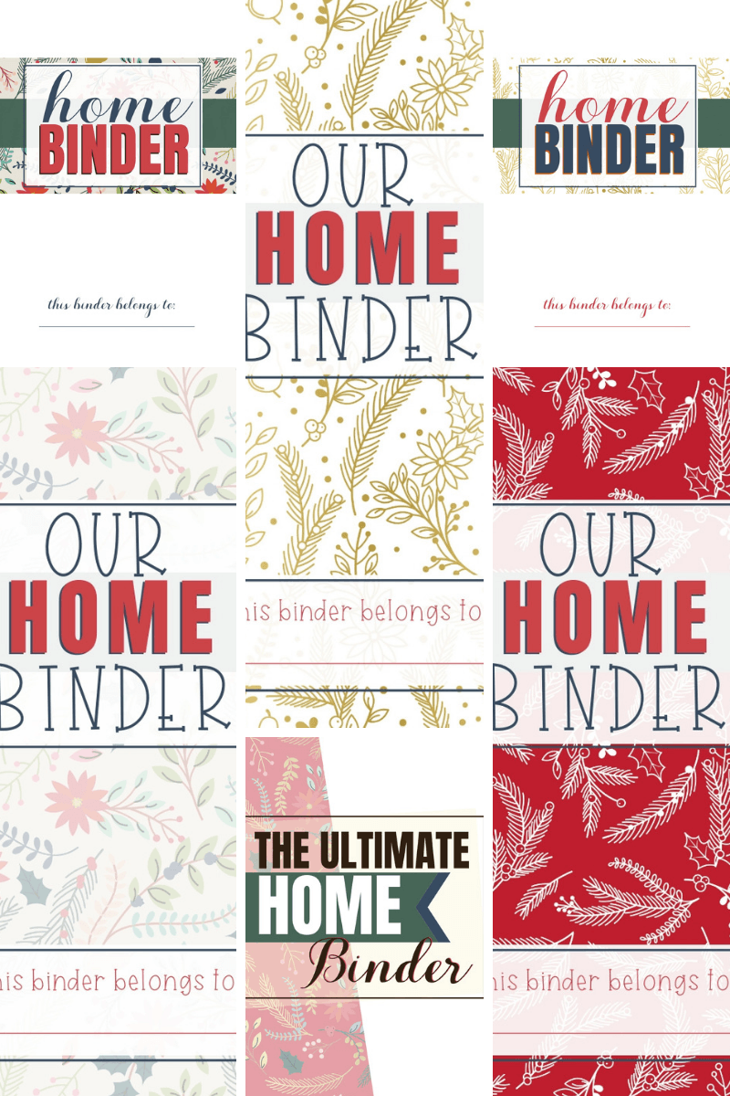 free christmas home binder covers  u2013 our home made easy