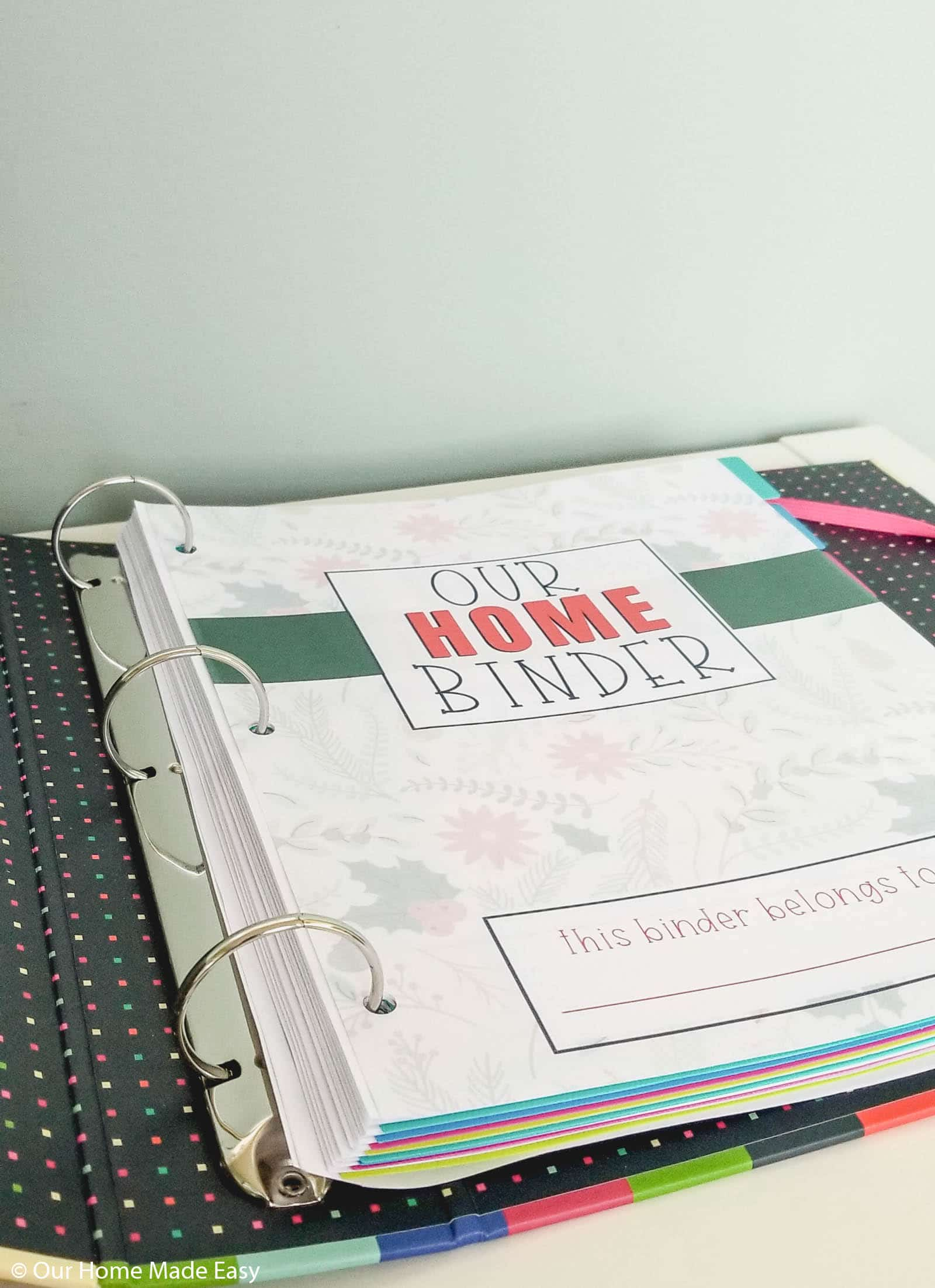 The Home Binder is our command center for everything home organization.
