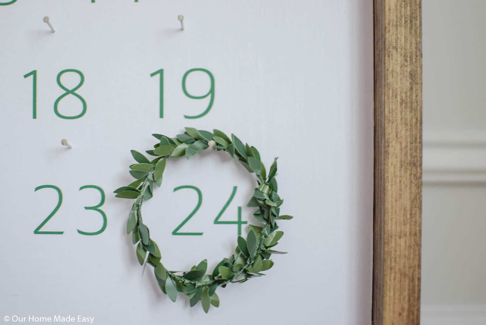 this simple farmhouse style advent calendar is a perfect way to celebrate the season