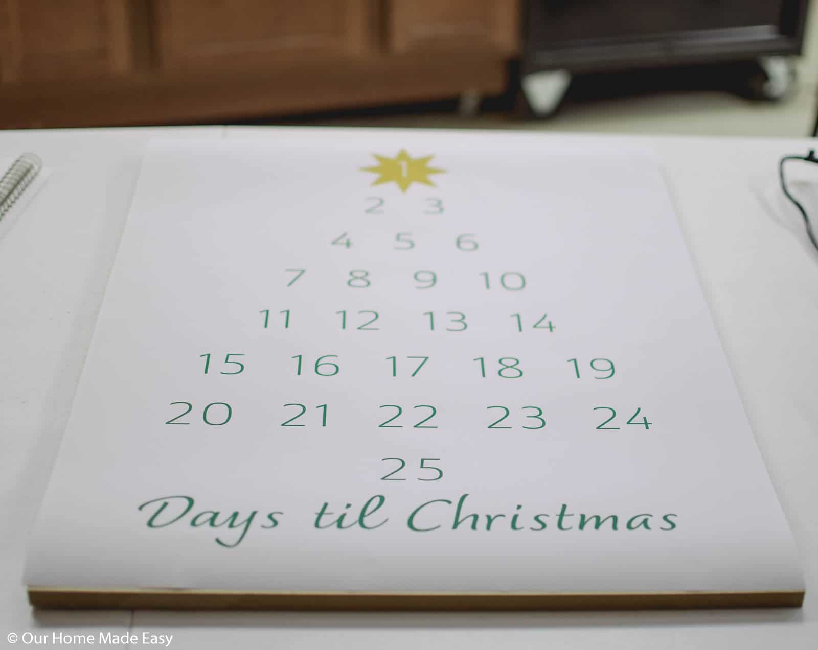 here's how to make this simple DIY advent calendar that's perfect for a farmhouse style home
