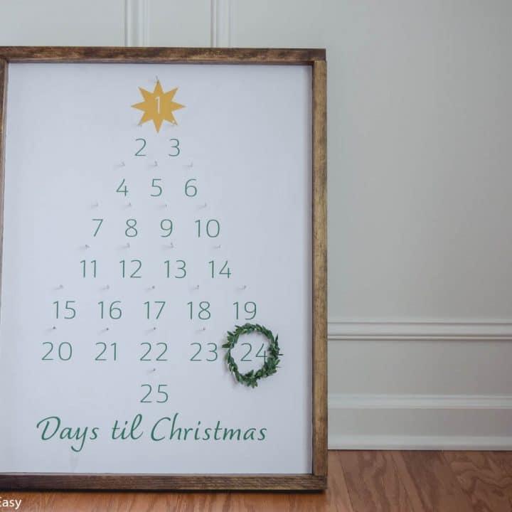 Easy DIY Farmhouse Advent Calendar