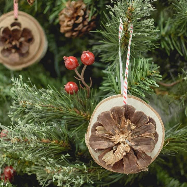 DIY Rustic Wood Slice Ornaments