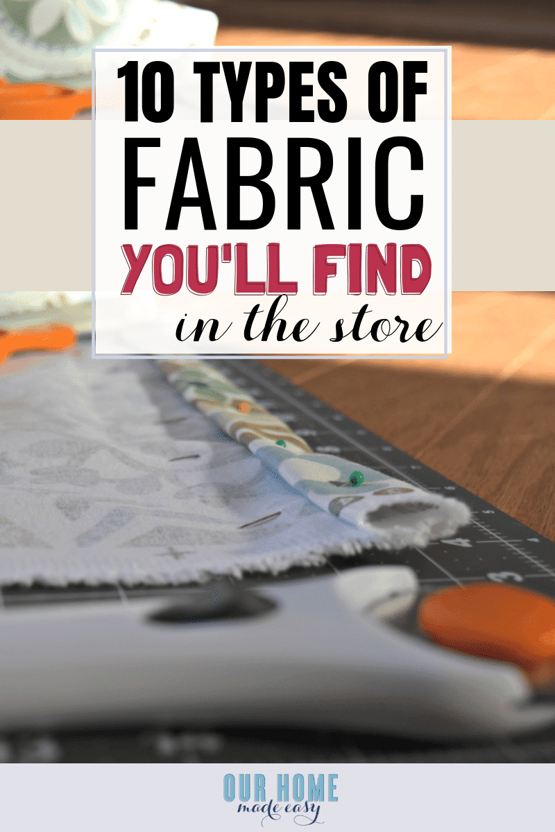 The go to fabric guide & glossary for beginners! #sewing #homedecor