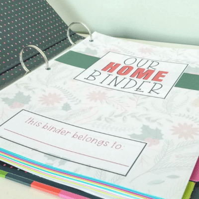 Free Christmas Home Binder Covers