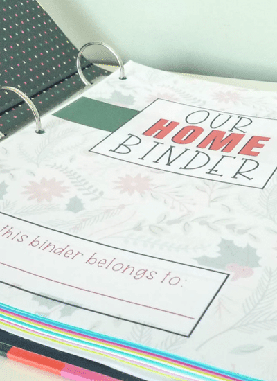 Free Christmas Home Binder Covers