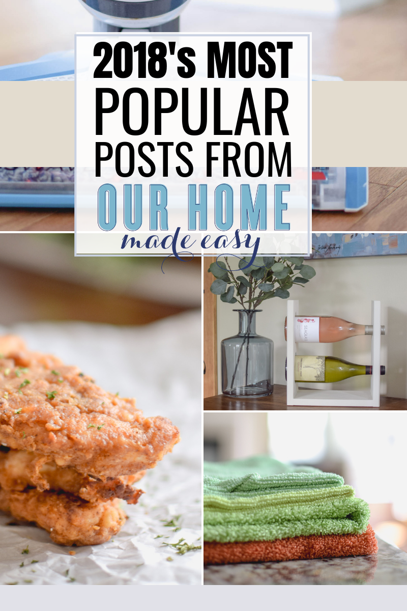 Most popular posts of 2018 at Our Home Made Easy #ourhomemadeeasy