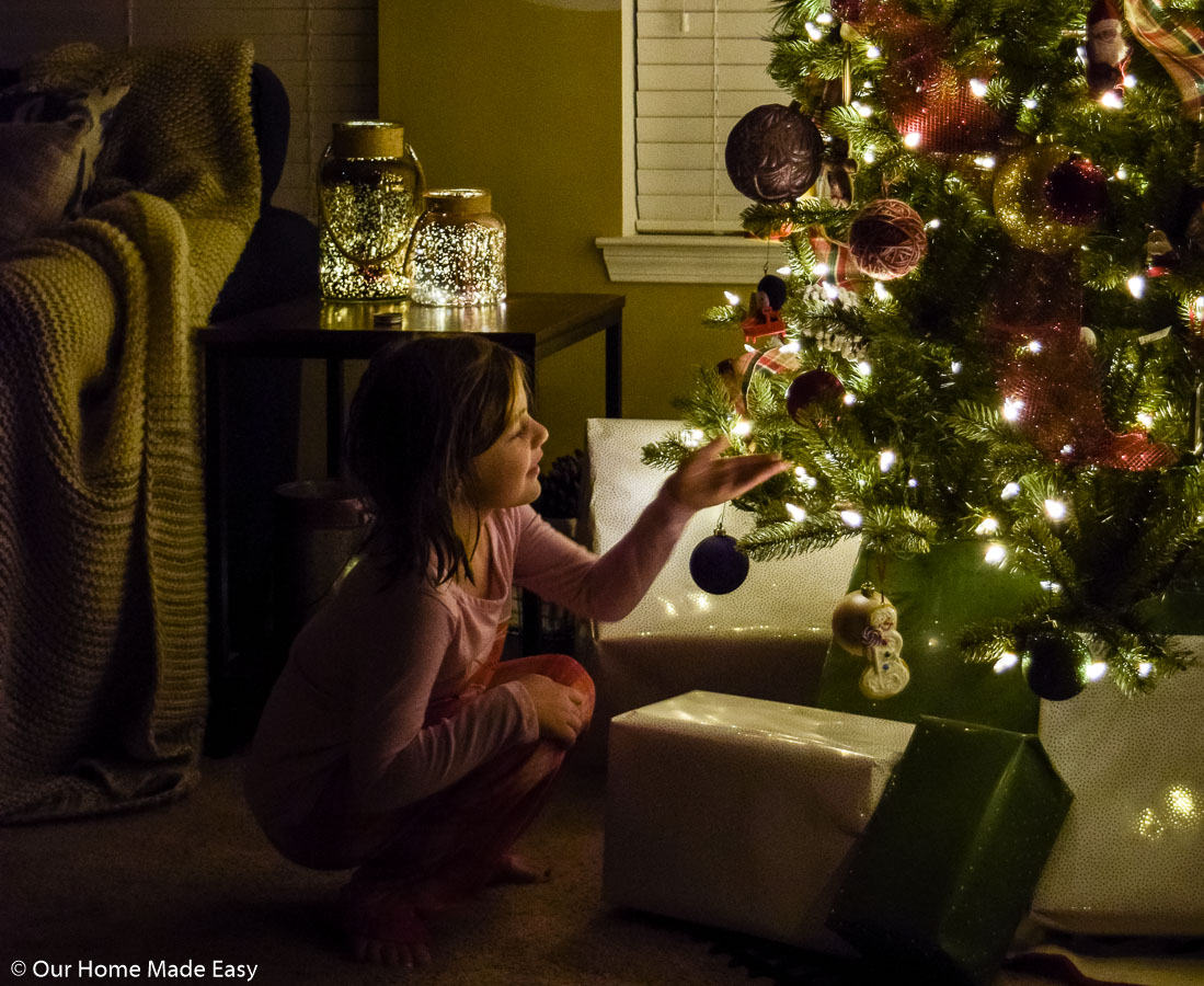 My youngest daughter Aubrey loves helping with decorating the Christmas tree around the Holidays