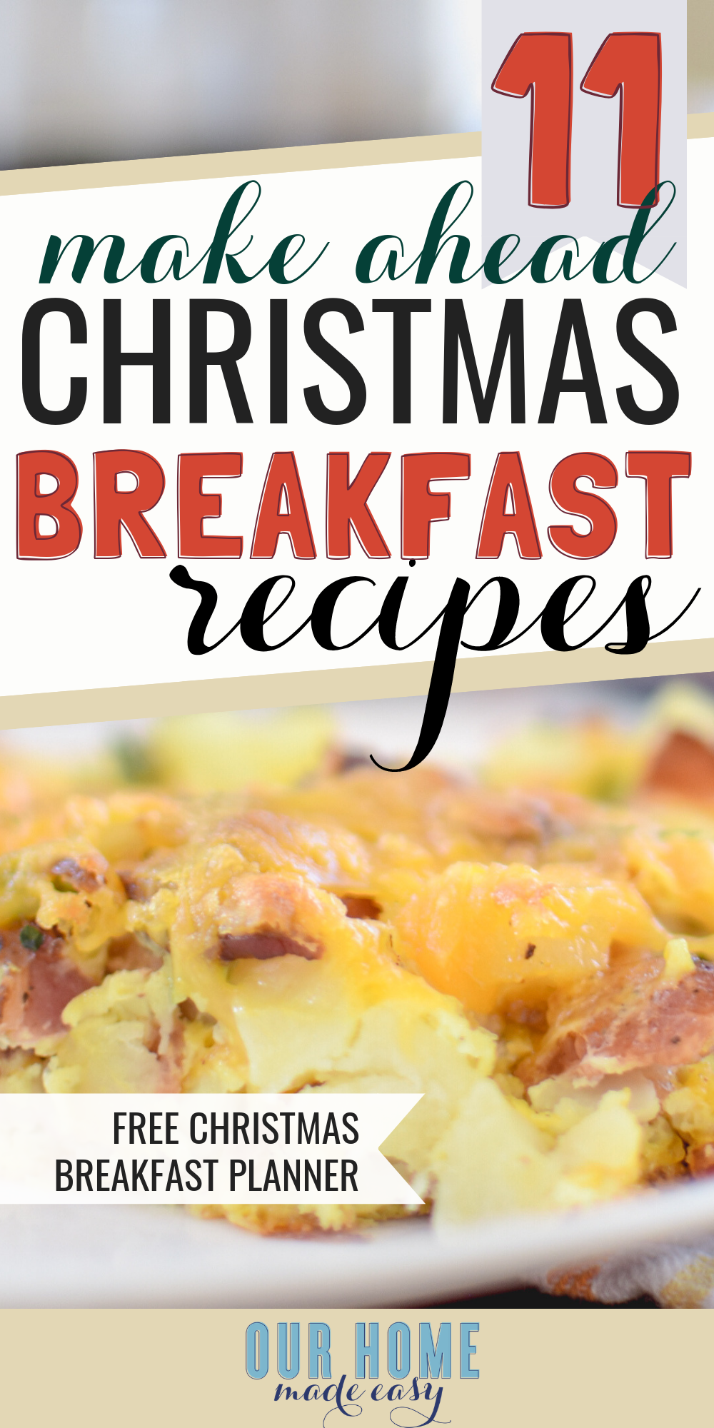 These make ahead breakfast recipes are perfect for hosting brunch! Grab the casseroles here! #breakfast