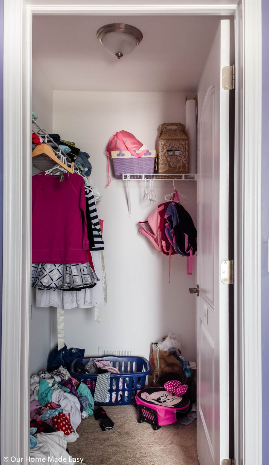 Before our bedroom closet organization project, this small closet needed some serious help!