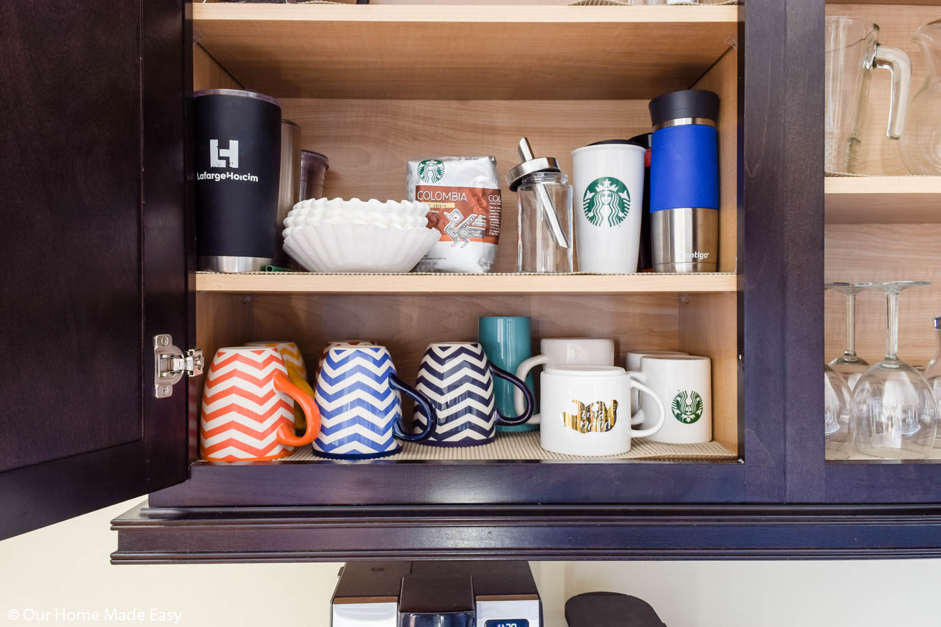 keep your cabinets organized with these kitchen decluttering tips